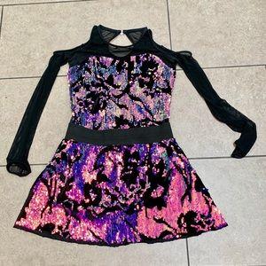 Weissman | Want You Back Cold Shoulder Mini Dress